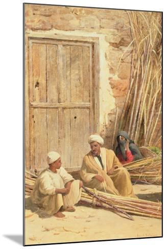 Sellers of Sugar Cane, Egypt, 1892-David Bates-Mounted Giclee Print