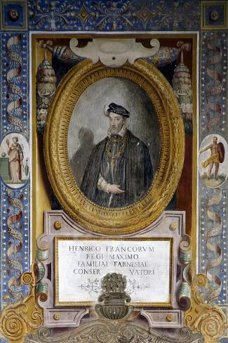 Portrait of Henry II--Stretched Canvas Print