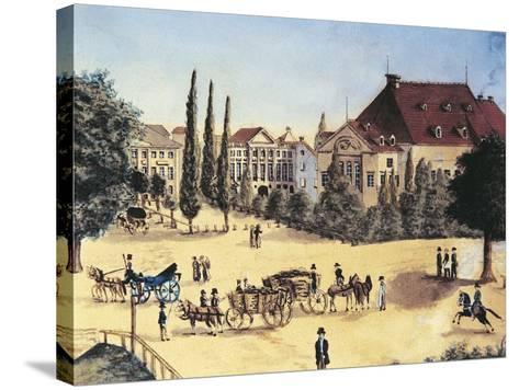 Germany, Leipzig, Konzertsaal Des Gewandhauses--Stretched Canvas Print