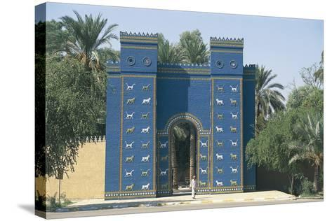 Reconstruction of the Ishtar Gate--Stretched Canvas Print