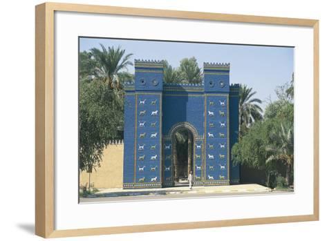 Reconstruction of the Ishtar Gate--Framed Art Print