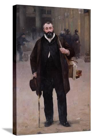 Portrait of Pierre-Emmanuel Damoye-Alfred Roll-Stretched Canvas Print