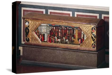 Tuscan Wedding Chest, Decorated with Pastiglia--Stretched Canvas Print