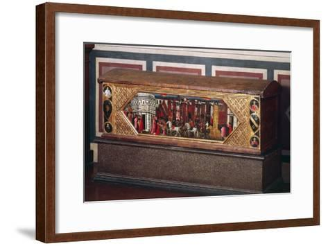 Tuscan Wedding Chest, Decorated with Pastiglia--Framed Art Print