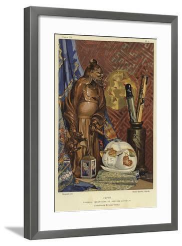 Japanese Fabrics, Ceramics and Bronzes--Framed Art Print
