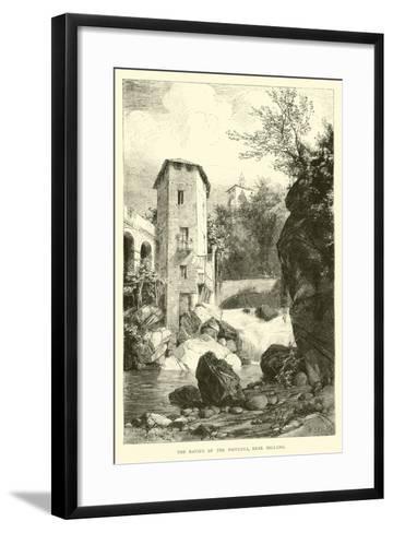 The Ravine of the Pioverna, Near Bellano--Framed Art Print