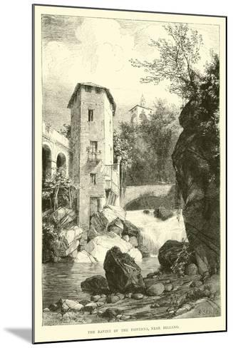 The Ravine of the Pioverna, Near Bellano--Mounted Giclee Print