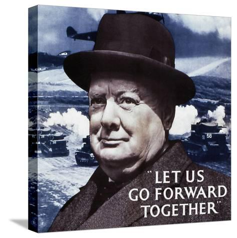 Let Us Go Forward Together, 1940--Stretched Canvas Print