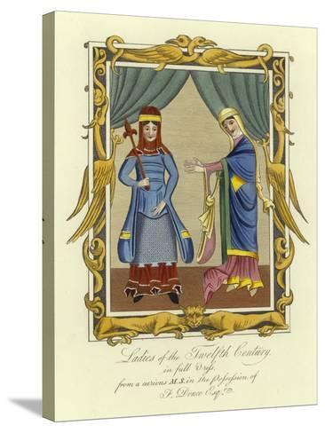 Ladies of the 12th Century in Full Dress--Stretched Canvas Print