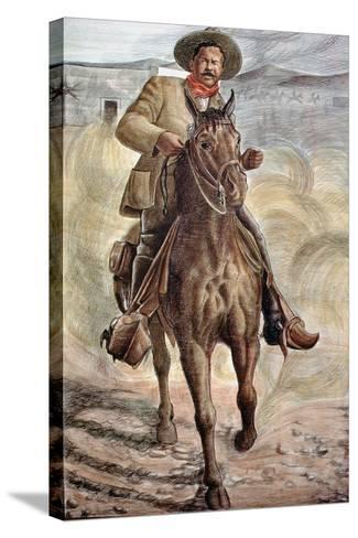 General Francisco Villa--Stretched Canvas Print