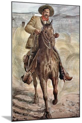 General Francisco Villa--Mounted Giclee Print