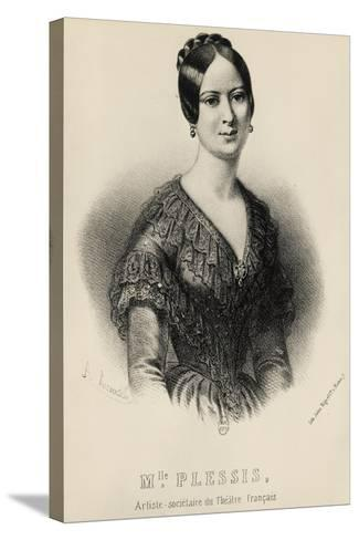 Portrait of Jeanne Arnould-Plessy--Stretched Canvas Print