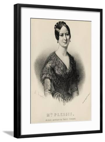 Portrait of Jeanne Arnould-Plessy--Framed Art Print