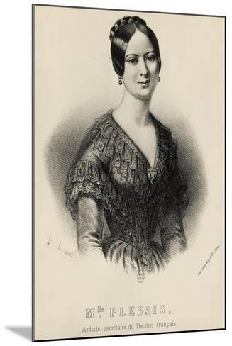 Portrait of Jeanne Arnould-Plessy--Mounted Giclee Print