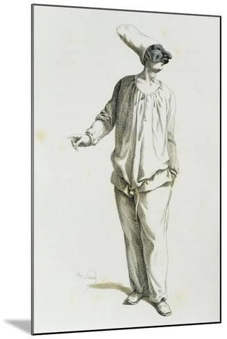Pulcinella in 1800-Maurice Sand-Mounted Giclee Print