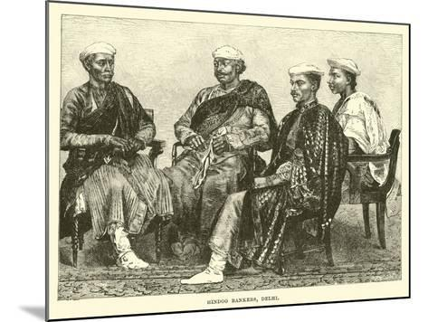 Hindoo Bankers, Delhi--Mounted Giclee Print