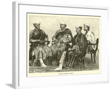 Hindoo Bankers, Delhi--Framed Art Print