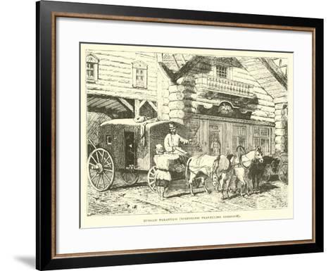 Russian Tarantass, Springless Travelling Carriage--Framed Art Print