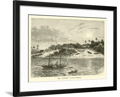 "The ""Pioneer"" on the Zambesi--Framed Art Print"