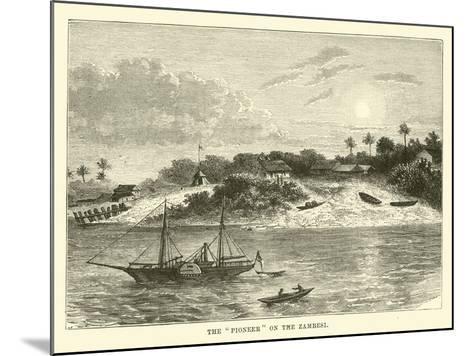 "The ""Pioneer"" on the Zambesi--Mounted Giclee Print"