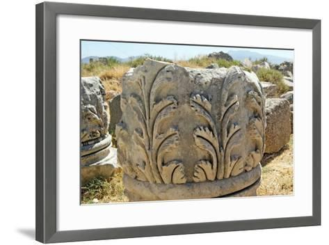 Decorated Capital, Xanthos, Turkey--Framed Art Print