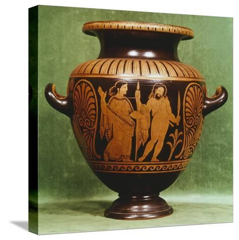 Stamnos, Red-Figure Pottery from Vulci--Stretched Canvas Print