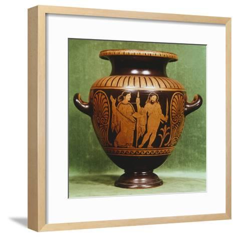 Stamnos, Red-Figure Pottery from Vulci--Framed Art Print