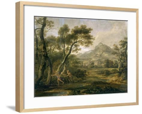 Satyr Chasing Nymph-Andrew Wilson-Framed Art Print
