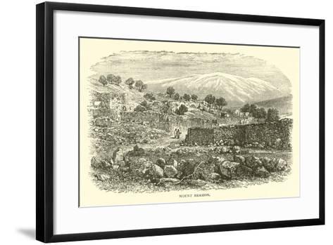 Mount Hermon--Framed Art Print