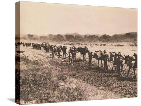Italian Military Column Moving, 1935-36--Stretched Canvas Print