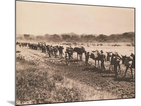 Italian Military Column Moving, 1935-36--Mounted Photographic Print