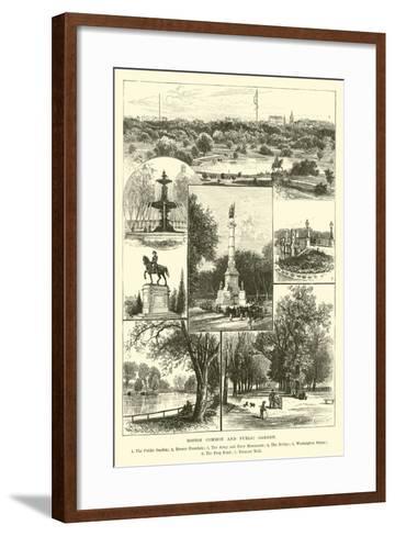 Boston Common and Public Garden--Framed Art Print