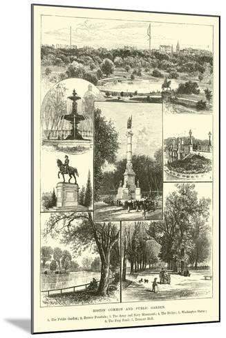 Boston Common and Public Garden--Mounted Giclee Print