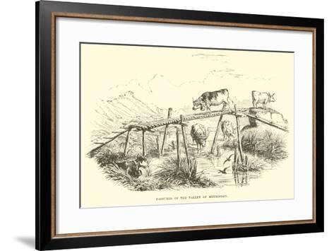 Pastures of the Valley of Meyringen--Framed Art Print