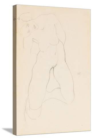 Kneeling Female Nude, 1912-Egon Schiele-Stretched Canvas Print