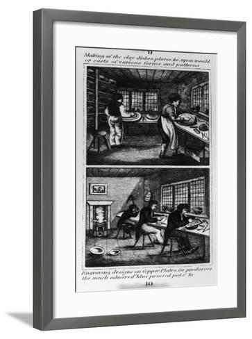 Making of the Clay Dishes, 1827--Framed Art Print