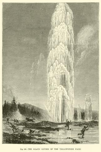 The Grand Geyser of the Yellowstone Park--Stretched Canvas Print