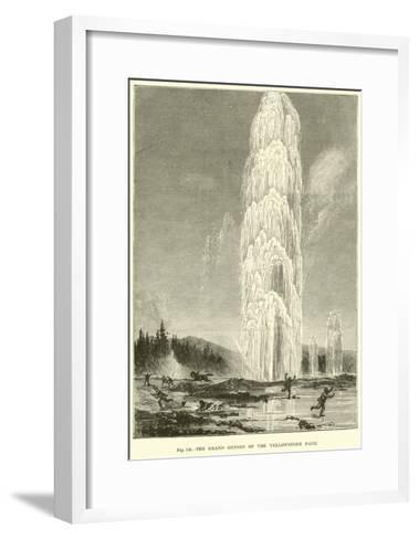 The Grand Geyser of the Yellowstone Park--Framed Art Print