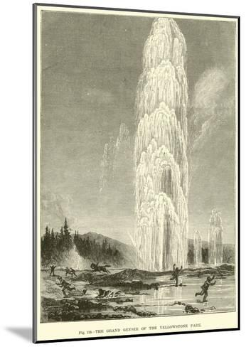 The Grand Geyser of the Yellowstone Park--Mounted Giclee Print