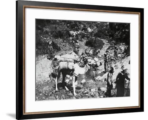 A Unit of Riflemen in Ogaden--Framed Art Print