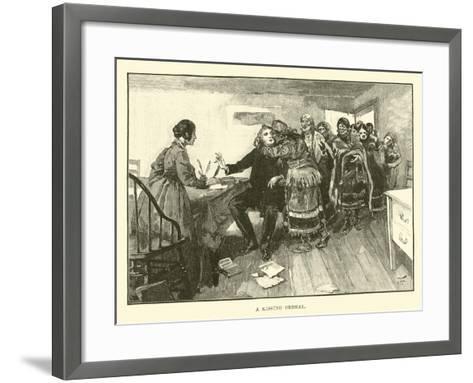 A Kissing Ordeal--Framed Art Print