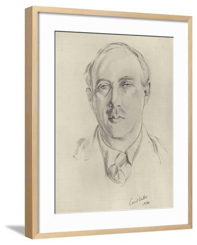 Francis Brett Young, English Novelist and Poet--Framed Art Print