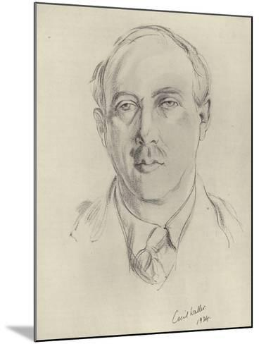 Francis Brett Young, English Novelist and Poet--Mounted Giclee Print