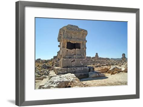 Pillar Tomb, Xanthos, Turkey--Framed Art Print