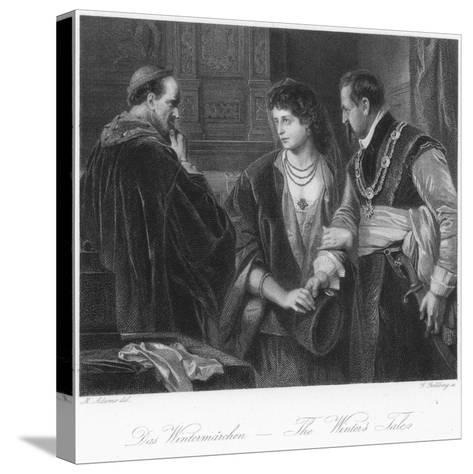 Scene from the Winter's Tale--Stretched Canvas Print