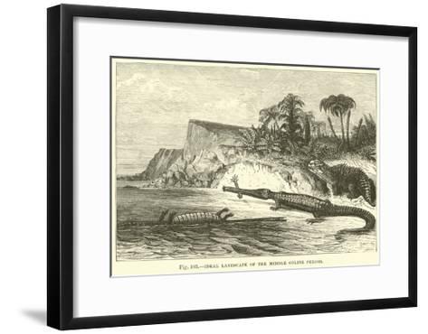 Ideal Landscape of the Middle Oolite Period--Framed Art Print
