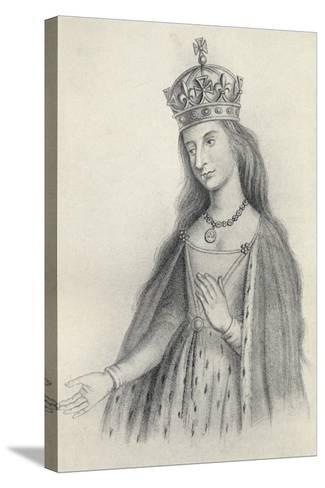 Catherine of Valois--Stretched Canvas Print