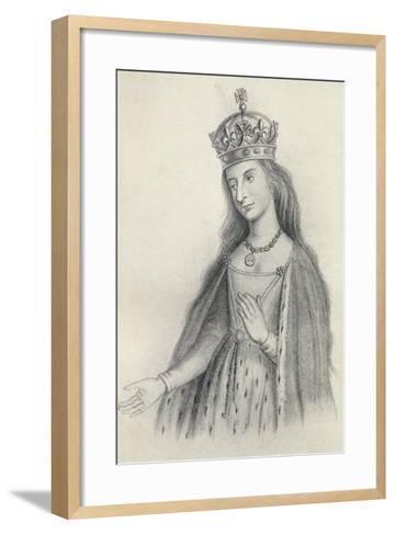 Catherine of Valois--Framed Art Print