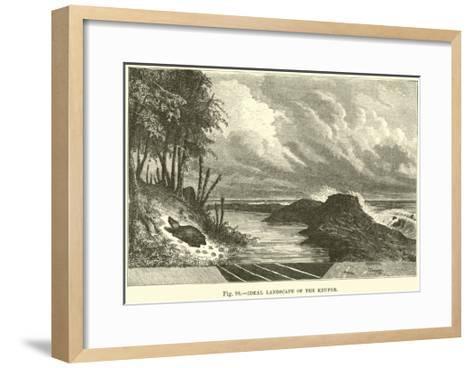 Ideal Landscape of the Keuper--Framed Art Print