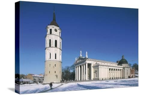 Lithuania, Vilnius, Old Town, Cathedral--Stretched Canvas Print